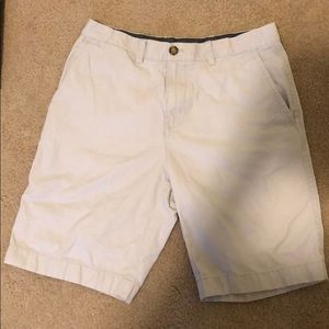 Tommy Hilfiger white flat front shorts